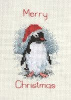 Christmas Penguin Counted Cross Stitch Card Kit